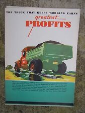1930s Goodyear Truck Tires Color Promotional Brochure All-Weather Tread V