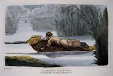 SLEDGE  SHOOTING  GENUINE AQUATINT BY HENRY ALKEN ORIGINAL HAND COLOUR  c1825