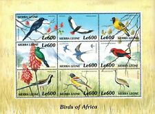 MODERN GEMS - Sierra Leone - The Birds of Africa - Sheet of 9 - MNH