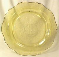Amber Patrician Depression Glass Dinner Plate Spoke Federal 11 inch Brown Spot 1