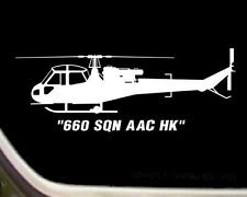 "Westland Scout Helicopter Pilot ""660 SQN AAC HK"" Decal Sticker SK-R030"