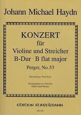 J.M.Haydn: Konzert für Violine & Streicher B-dur. Klavierauszug.