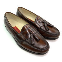 Cole Haan Pinch Tassel Loafers Mahogany Brown Dress Shoes 03508 Mens Size 8.5 E