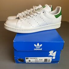 ADIDAS STAN SMITH MENS US 9 WHITE/GREEN Authentic New In Box M20324 SUPERSTAR