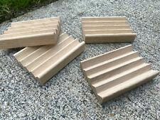 56 white oak Boardwalk style soap dishes