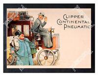 Historic Clipper Continental motorcar tyres Advertising Postcard