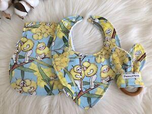 May Gibb Baby Shower bib Burp Cloth Wooden Teething Ring Bamboo nursing pad