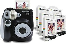 Polaroid PIC 300 Camera In Black and PIF 300 Paper Bundle Instant Photos NEW