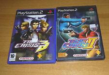 2 jeux playstation 2 PS2 - Time Crisis 2 + Time crisis 3 (pistolet G-con 2)