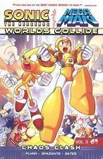 Sonic/ Mega Man Worlds Collide Vol. 3 Chaos Clash Paperback Comic Book Flynn
