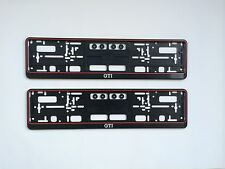 2x vw gti support de plaque d'immatriculation Golf 1 2 3 4 5 6 7 polo Lupo NEUF-Made in Germany -