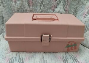 Vintage 1980s Pink Plano Caboodle Made In USA Model 552072 No Mirror