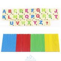 Rechenstäbchen Holz Zahlen Zählen Mathematik Spielzeug Ausbildung für Kinder Hot