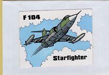 ADESIVO VINTAGE STICKER F104 STARFIGHTER AVIATION JET