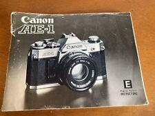 Canon Ae-1 camera Instruction genuine Manual guide book