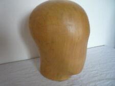 Vintage Milliners Mannequin Wooden Head Hat Block Stand Shop Display Home Decor