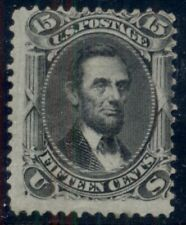 "US #98, 15¢ Lincoln, ""F"" Grill, unused no gum, rich color, centered UR, scarce"