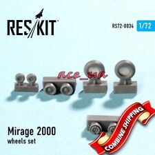 Resin Wheels for Mirage 2000, Wheels Set 1/72 Reskit 72-0034