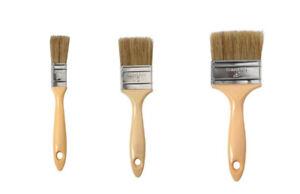 """Gelcoat set of 3 Pure Bristle Low Loss Plastic Handle Brush - 1"""", 2"""" & 3"""""""