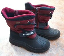 Trespass Kukun Kids Snow Boots in Red Size 1 EU 33