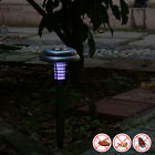 Solar-Powered Mosquito Fly Pest Insect Bug Zapper Killer Outdoor Solar Light