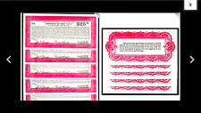 SALE FIVE NOTES TOTALLY YOURS  Lodi, NEW JERSEY - Lodi $25 1936 Tax Anticipation