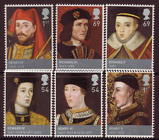 GREAT BRITAIN 2008 SET OF 6 KINGS LANCASTER AND YORK UNMOUNTED MINT