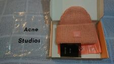 Acne Studios Thick Pansy Wool Beanie Hat Pink
