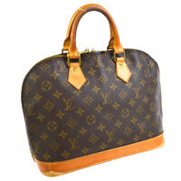 LOUIS VUITTON ALMA HAND BAG PURSE MONOGRAM CANVAS VI0955 M51130 VINTAGE 31854