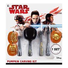 Star Wars Pumpkin Carving Kit Set R2D2 C3PO Jabba The Hut Darth Vader Yoda *New