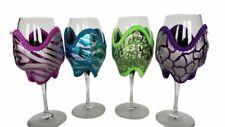 Wine Coozie-Pink Zebra,Purple Giraffe,Teal Zebra,& Green Leopard Print Pack Of 4