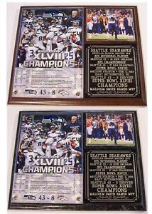 Seattle Seahawks Super Bowl XLVIII Champions Photo Plaque 12th Man Beast Mode