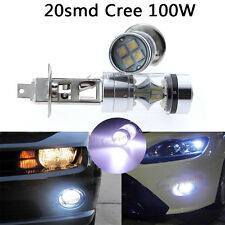 2x H1 100W LED 20-SMD Cree Fog Daytime Driving DRL Light Bulbs HID White