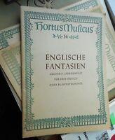 Englische Fantasien f. 3 Streich- oder Blasinstrumente a.d. 17. Jahrhundert 1957