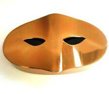 Vintage ELIZABETH ARDEN Goldtone Masquerade Mask Powder Compact. Rare!