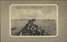 Provincetown Cape Cod MA RR Wharf at Boat Time c1910 Postcard