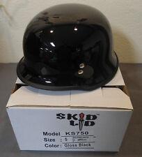Skid Lid KS750 Gloss Black Small Half Motorcycle Helmet German WWII Style DOT