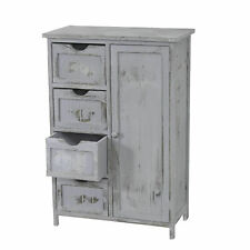 Kommode Schrank, 82x55x30cm, Vintage, Shabby-Look grau