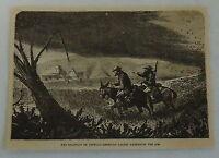 1882 magazine engraving~CENTRAL-AMERICAN LOCUST DARKENING AIR Swarm of Chapulins