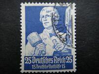 Germany Nazi 1934 Stamps Used Sculptor WWII Third Reich Deutsches Reich German D