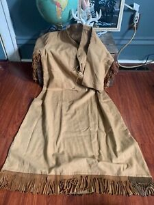 Authentic, hand made, Native American? Dress. Leather fringe!