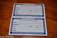LOT OF 200 Contest Entry Blank Paper Forms Pad Drawing Prize Raffle Entry Forms