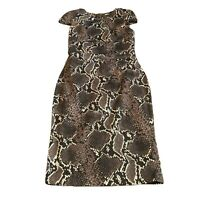 Karen Millen Womens Animal Snake Print Wiggle Pencil Occasion Dress Size 10UK