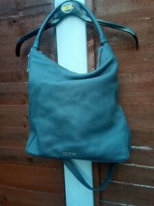Beautiful Grey WHISTLES Leather Hobo Shoulder Bag