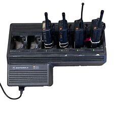 Motorola NTN1177C 6 Bank Gang Charger Plus Three HT1000  and One  MT2000