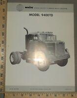 1963 White Truck Brochure Card