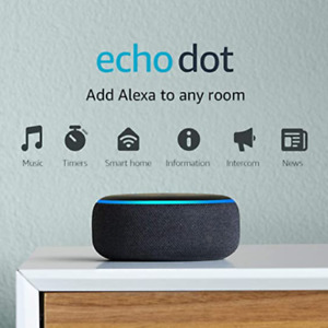 Echo Dot (3rd Gen) - Smart speaker with Alexa - Charcoal jf