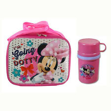 DISNEY MINNIE MOUSE School Insulated Lunch Bag w/ Strap + Tumbler Cup Pink NEW