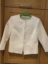 FRNCH CREAM JACKET WITH EMBOSSED PATTERN & CONCEALED FASTENING/SIZE 12/M/NWOT