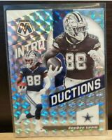 2020 Panini Mosaic CeeDee Lamb Introduction Silver Prizm Card Dallas Cowboys RC